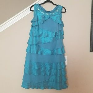 Roamans Teal Special Occasion Dress 14W Plus size